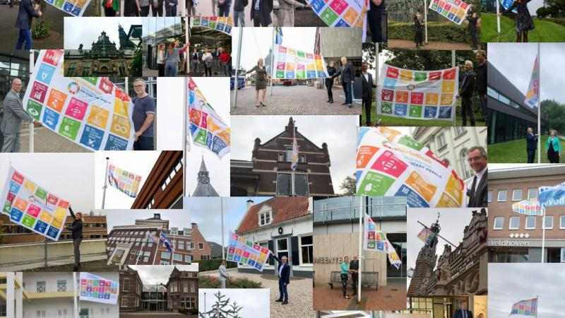 collage van Global Goals vlaggen